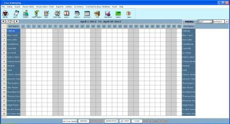 easy innkeeping software monthly calendar