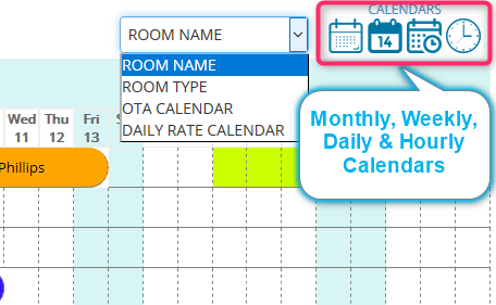 EasyInnkeeping Front Office Hourly Calendar