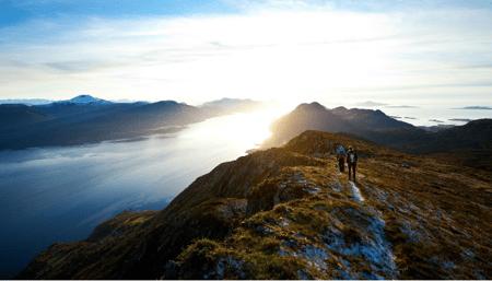digital natives walking on mountains