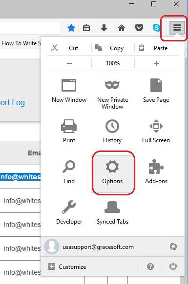 Clear cache in Mozilla Firefox