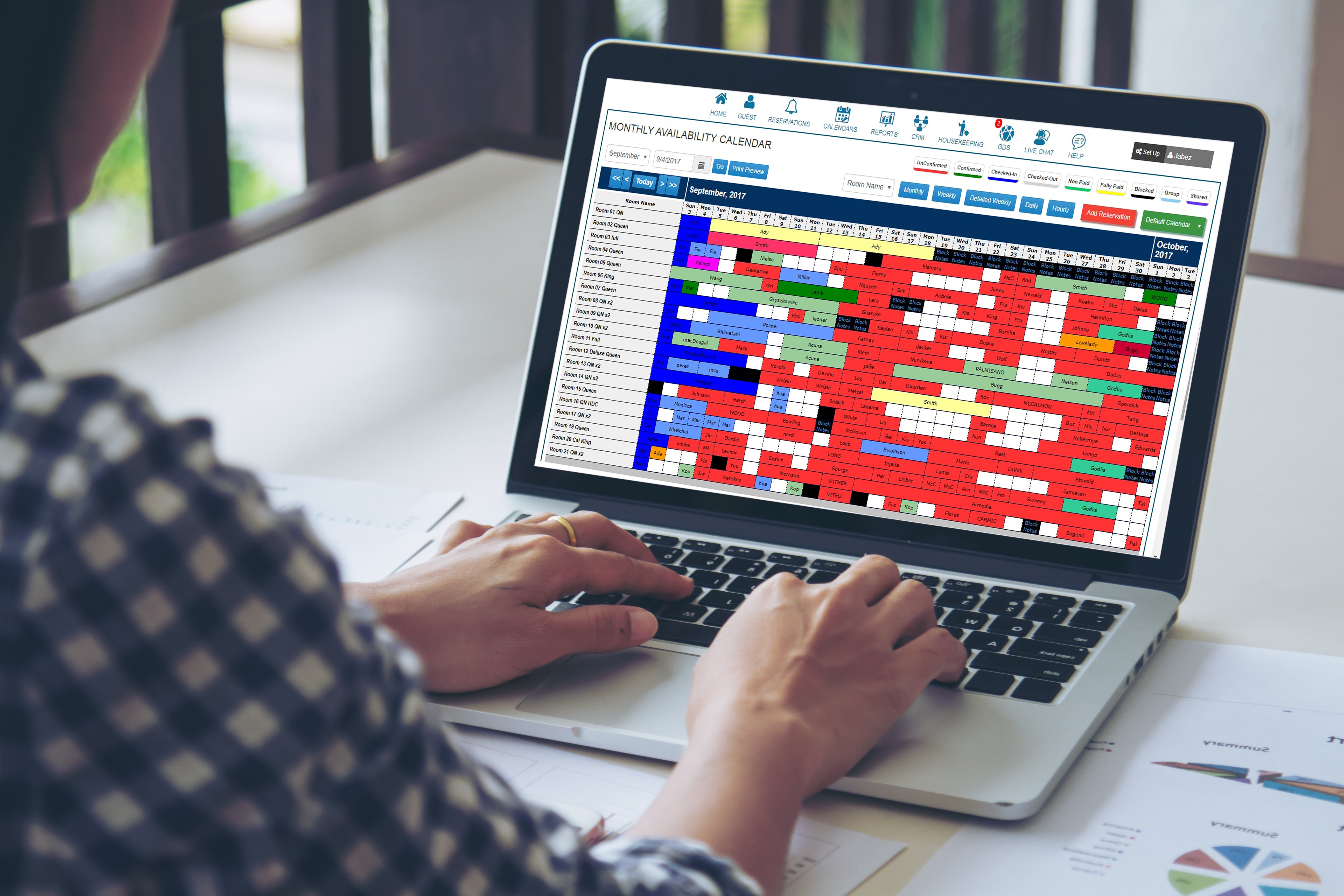Easy Innkeeping Software Monthly Availability Calendar