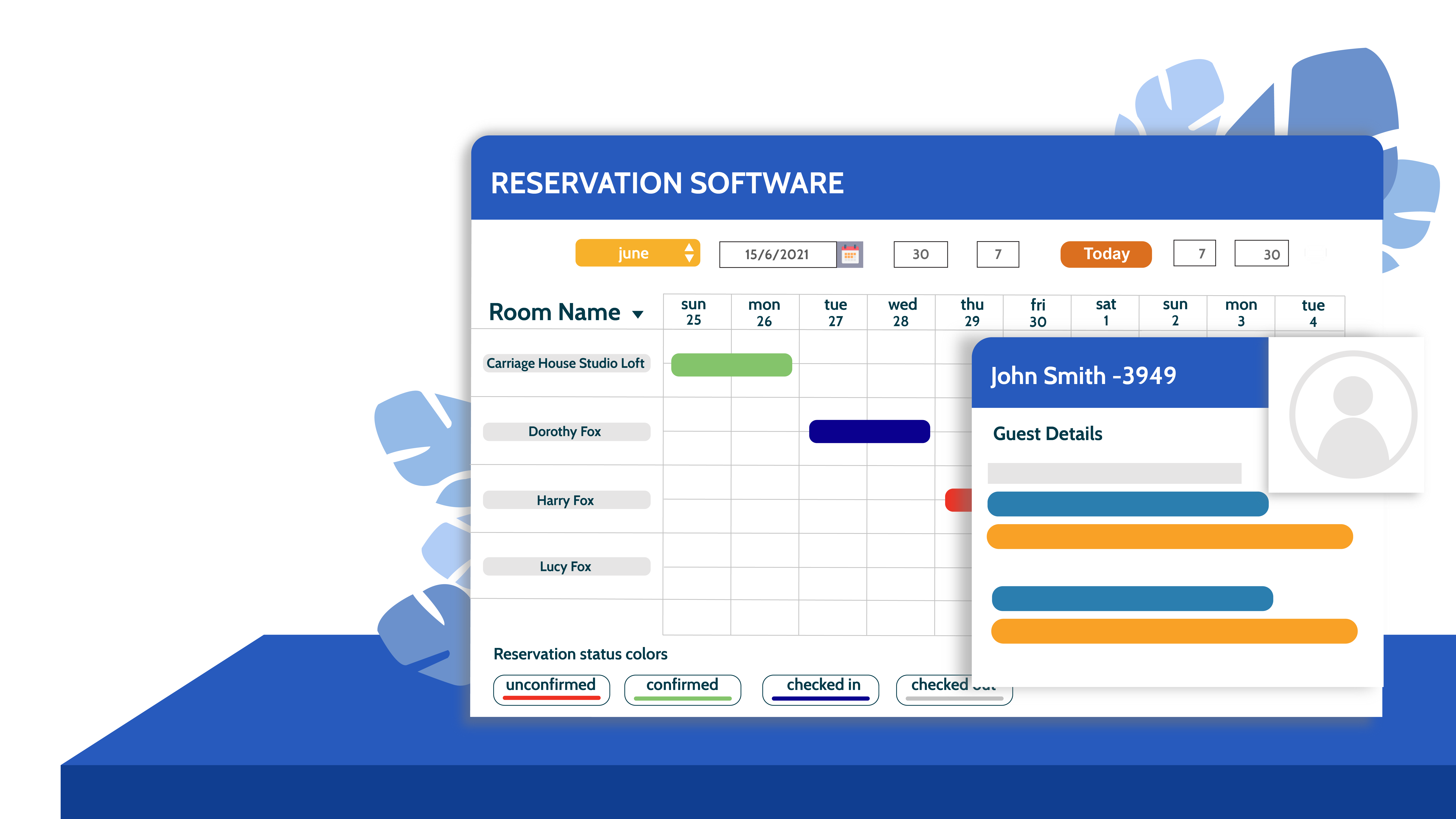 Reservation software for hospitality business